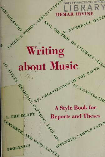 Writing about music by Demar Irvine